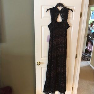 NWT Size 12 JS Collections Black Lace Gown